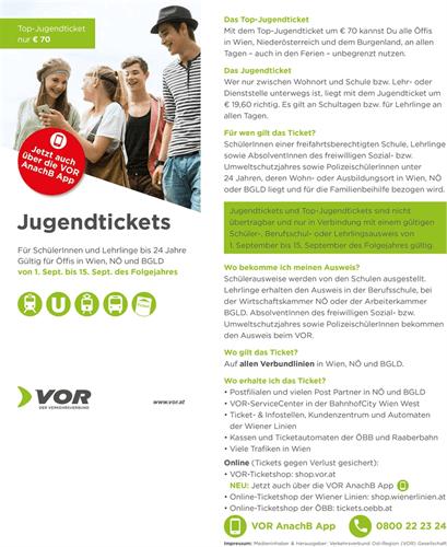 Vor Jugendticket Und Top Jugendticket 201819 Oberwaltersdorf